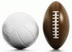 Volleyball and football