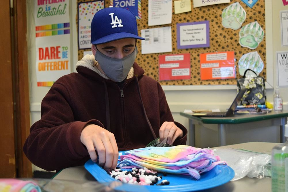 student packages tye dyed kindness masks