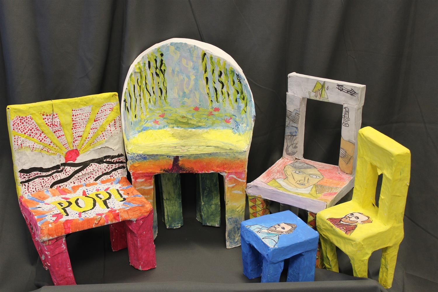 Student Artwork of Chairs