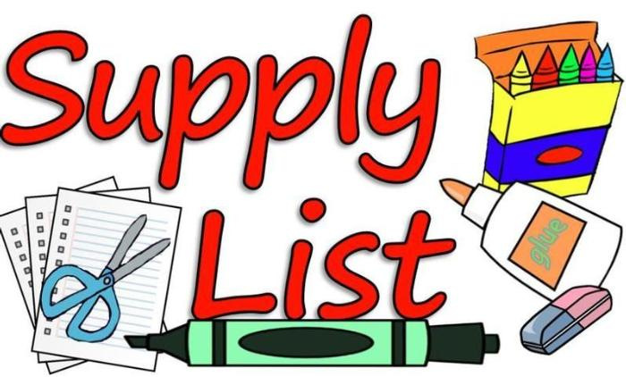 Please See Our 2020-2021 Supply List
